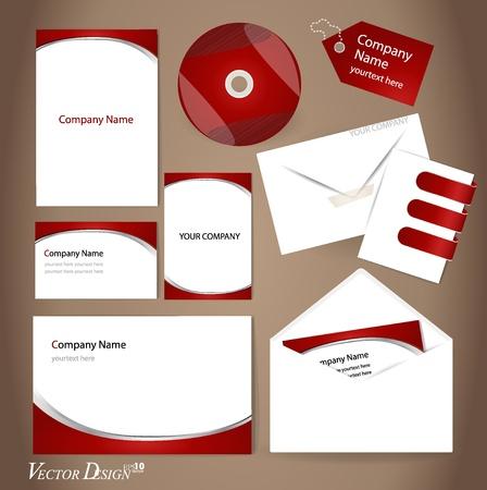 Szablony stylu biznesowych dla Twojej projektowania Ilustracja