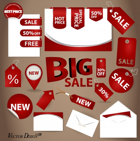 Business style templates for your project design and Price Tag Set  Vector