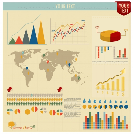Set elements of infographics  World Map and Information Graphics  Vector
