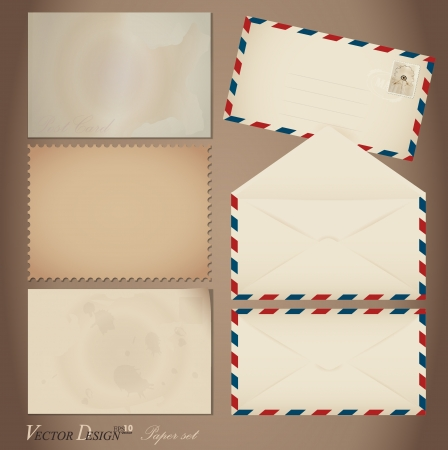 Vintage paper designs  various note papers, ready for your message Vector