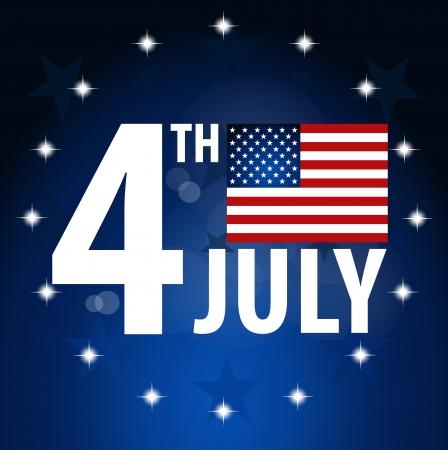 독립 기념일에 대 한 미국 국기 일러스트