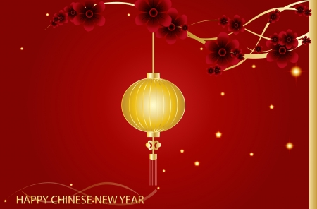 chinatown: Fairy-lights. Big traditional chinese lanterns will bring good luck and peace to prayer during Chinese New Year. Vector Illustration.