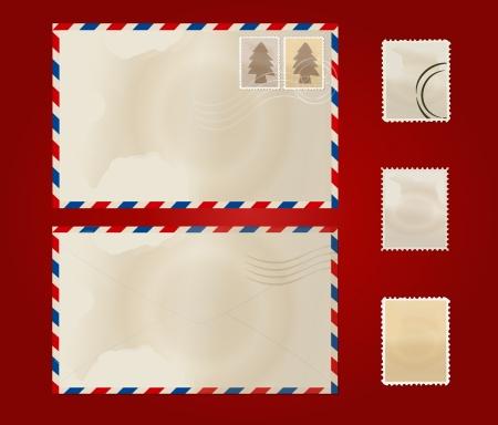 enveloppe ancienne: Vieille enveloppe et timbre ensemble.