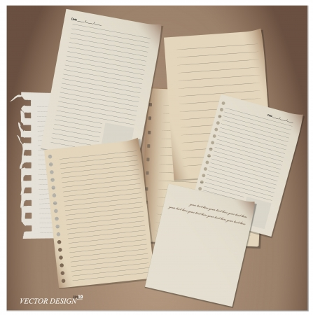 Paper Sheets set. Vector