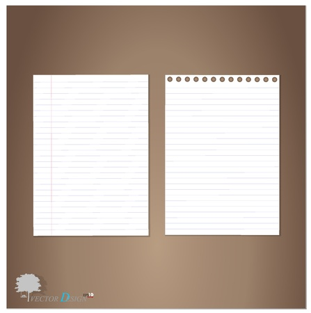 Lined paper and Note Paper.
