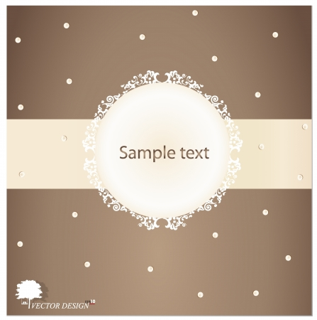 Retro greeting card template design-vintage card design. Vector