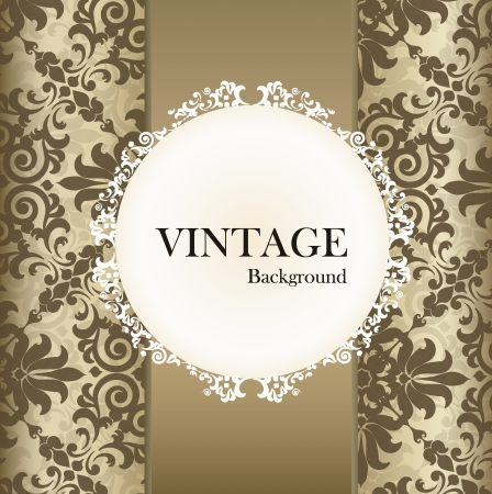Seamless retro pattern background with vintage label. Stock Vector - 14180199