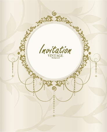 Wedding card. Vector illustration. Vector