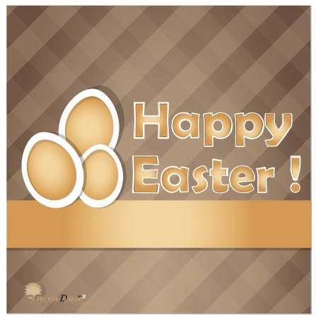Easter eggs card.  Vector
