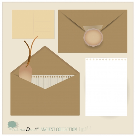 Envelope and postcard designs. Stock Vector - 14238127