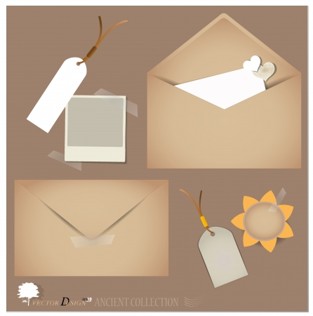 Vintage envelope designs. Vector
