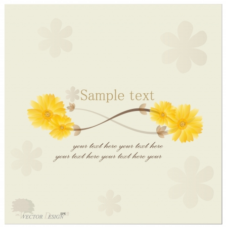 Vintage floral background - Daisies. Stock Vector - 14238211