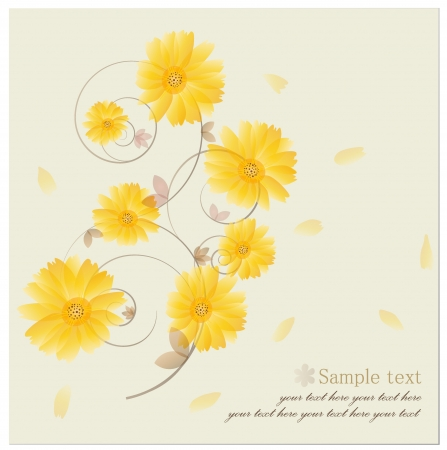 Vintage floral background - Daisies.  Stock Vector - 14238229