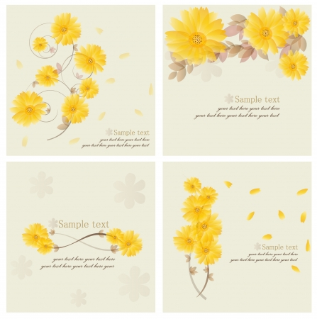 Vintage floral background - Daisies.