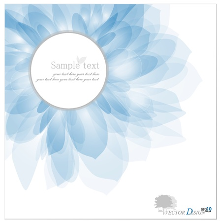 Abstract background with Romantic Flower.  Vector