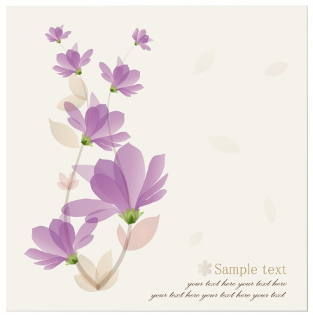 flourish: Vintage Flower Background.