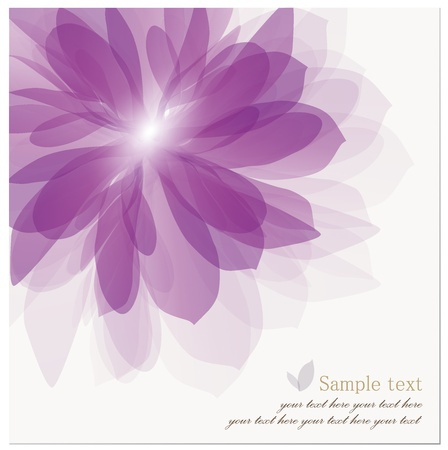 Romantic Flower Background.  Vector