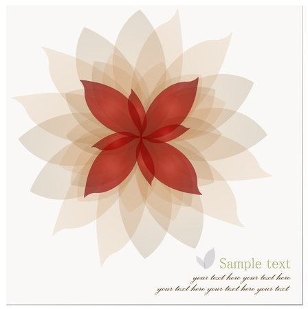 white lotus flower: Romantic Flower Background. Vector illustration. Illustration