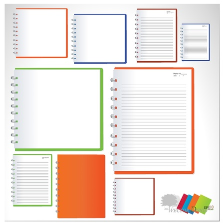 Collection of notebook designs. Vector
