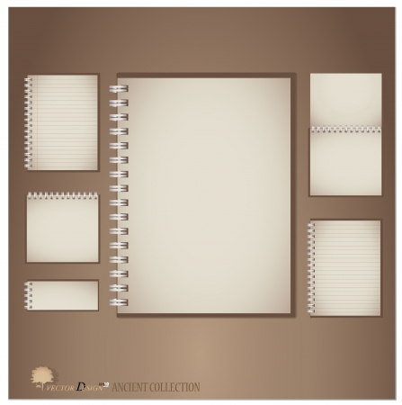 Vintage notebook designs.  Vector