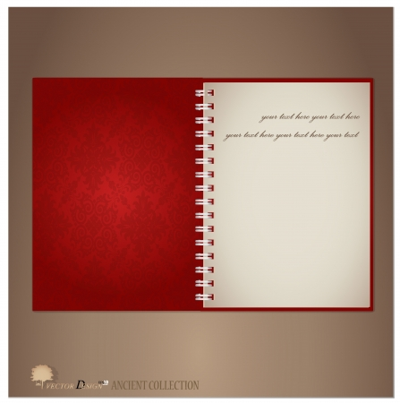 Vintage notebook designs. Stock Vector - 14234022