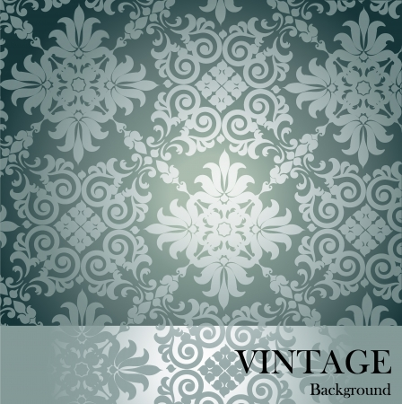 old postcards: Seamless luxury pattern background.