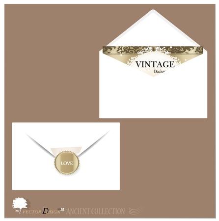 Envelope and postcard designs. Vector