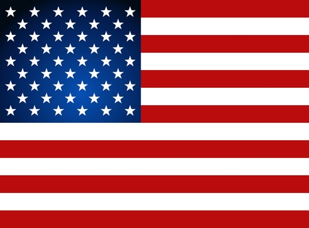 American Flag na Dzień Niepodległości. Ilustracja