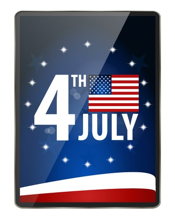 American Flag for Independence Day.  Vector