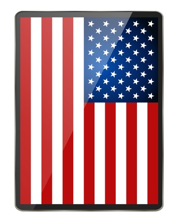 American Flag.  Stock Vector - 14238375
