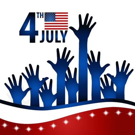 democracia: Bandera americana para el D�a de la Independencia.
