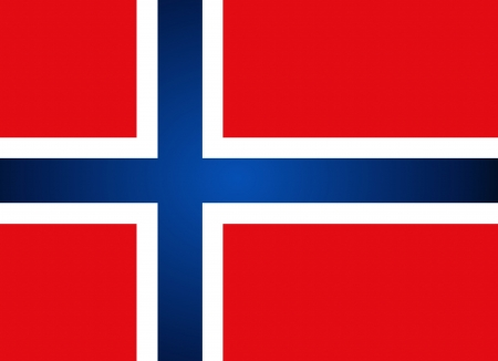 eu flag: Norway Flag. Vector illustration.