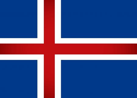 flag of iceland: Islandia Bandera Ilustraci�n vectorial