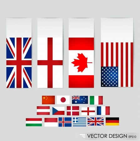 World flags illustration  Vector
