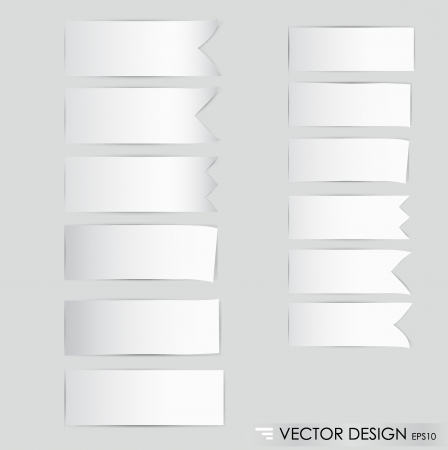 Collection of ribbon promotional products design, ready for your message  illustration  Vector