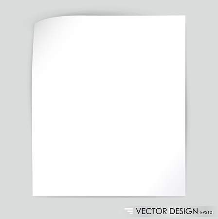 White note paper, ready for your message illustration  Stock Vector - 14557575