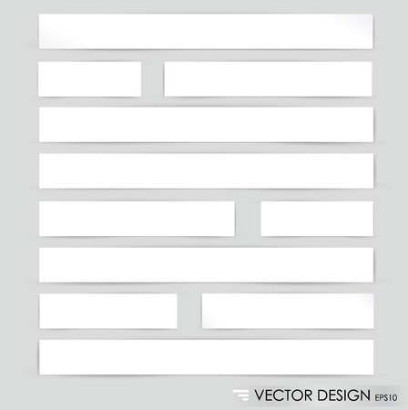 Collection of various white note papers, ready for your message illustration  Vector