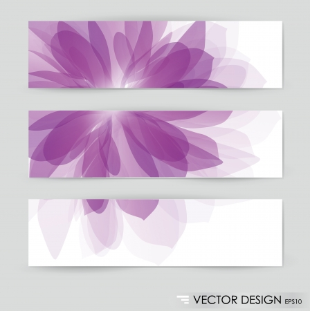 Flower vector background brochure template. Set of floral cards Vector