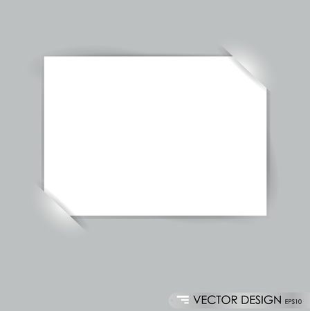 message vector: White note papers, ready for your message. Vector illustration.
