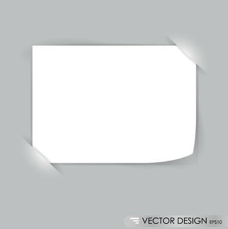 Weiß Notizzetteln, bereit für Ihre Nachricht. Vektor-Illustration.