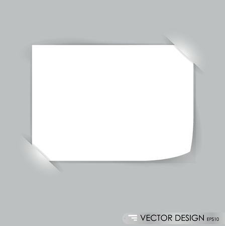 White note papers, ready for your message. Vector illustration. Vector