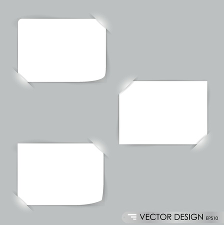 message vector: Collection of various white note papers, ready for your message. Vector illustration. Illustration