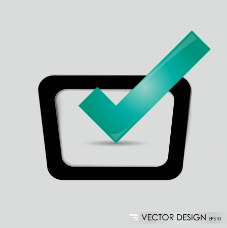 Check-box with green check-mark  Vector