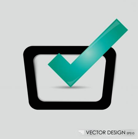 Check-box with green check-mark Stock Vector - 14749764
