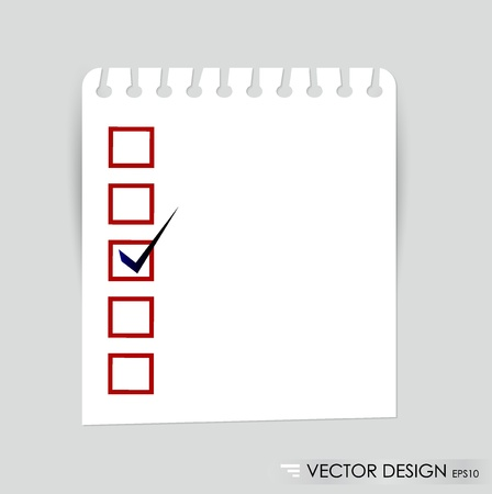 A checklist with black marker and red checked boxes  Concept  Stock Vector - 14749757