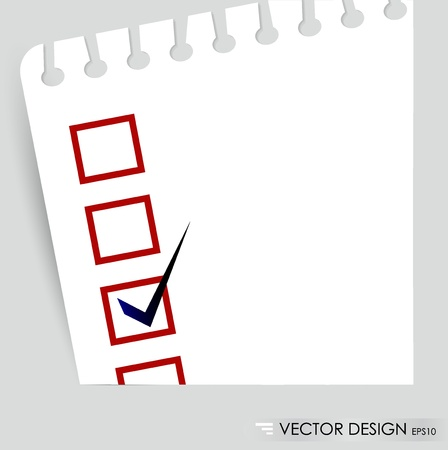 A checklist with black marker and red checked boxes  Concept Stock Vector - 14749759