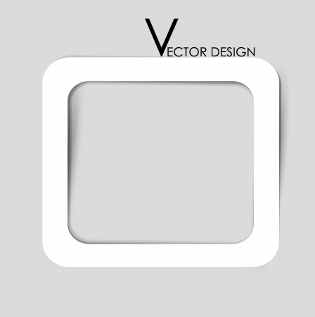 White frames on the gray wall Stock Vector - 14749784