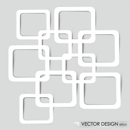 Überlappende Squares Konzept Illustration