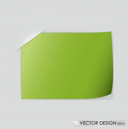 Note paper, ready for your message  Vector illustration  Vector