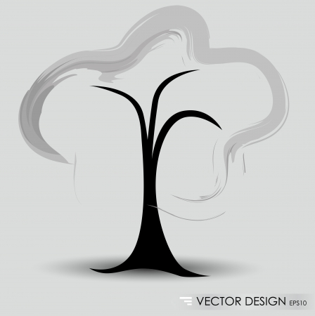 Abstract tree. Vector illustration. Vector